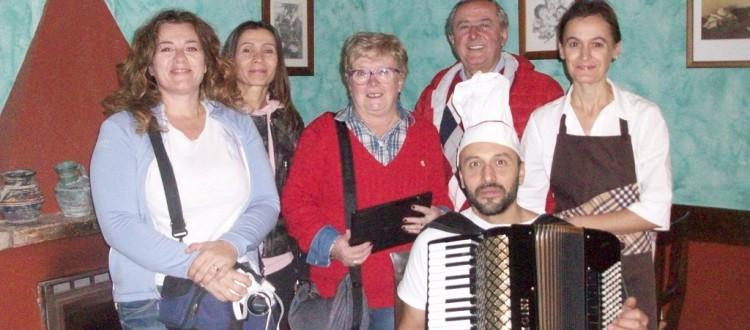 I blogger con Katia e Moreno della Trattoria del Tempio