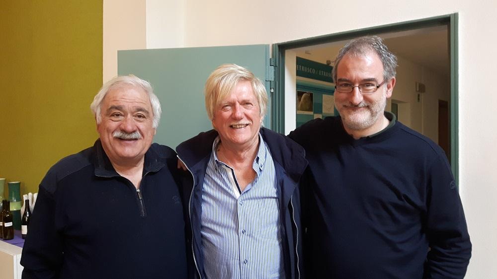Da sinistra: Prof. Attilio Scienza, Dott. Roberto Miravalle, dott. Michele Scienza