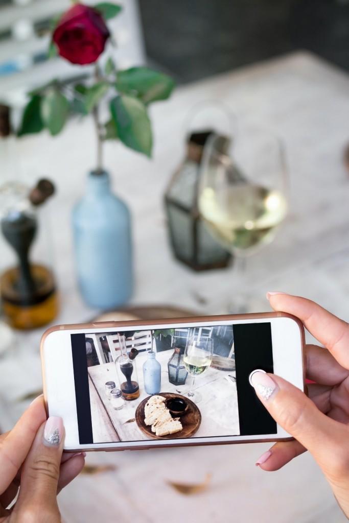 Foto vino e cibo